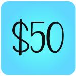 $50 button